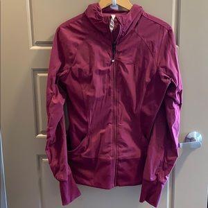 Lululemon raspberry In flux  jacket sz 12